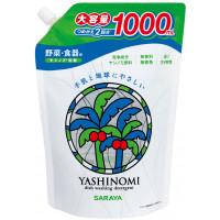 Saraya «Yashinomi» nõude- , puuviljade- ja köögiviljade pesuvahend täitepakend 1000ml