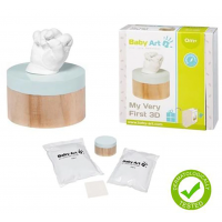 Baby Art 3D Sculpture Kit Käe ja jalatalla mälestusjälje loomise komplekt