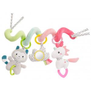 BabyFehn Spiraali kujuga laste mänguasi, kinnitamiseks käru, voodi või turvahälli külge
