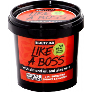 Beauty Jar LIKE A BOSS - 2 in 1 energeetiline duššigeel & šampoon 150gr