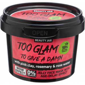 Beauty Jar TOO GLAM TO GIVE A DAMN-Mask-jello ealine viivitus mõju,100g
