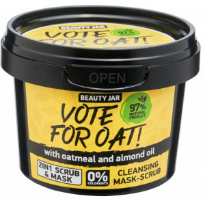 Beauty Jar VOTE FOR OAT! - Puhastav mask-koorija 100g.