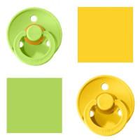 Bibs Lime/Pineapple Lutt 100% naturaalsest kautšukist – kirsi kujuga 0-6 kuud (2 tk)