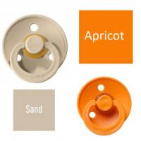 Bibs Sand/Apricot Lutt 100% naturaalsest kautšukist – kirsi kujuga 6-18 kuud (2 tk)