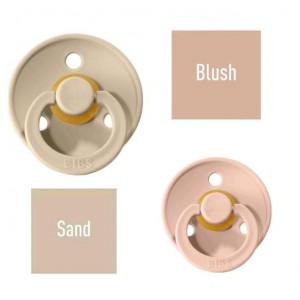 Bibs Sand/Blush Lutt 100% naturaalsest kautšukist – kirsi kujuga 6-18 kuud (2 tk)