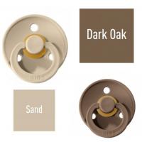 Bibs Dark Oak/Sand Lutt 100% naturaalsest kautšukist – kirsi kujuga 0-6 kuud (2 tk)