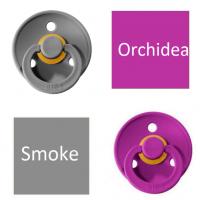 Bibs Smoke/Orchidea Lutt 100% naturaalsest kautšukist – kirsi kujuga 6-18 kuud (2 tk)