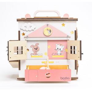 Boobo Toys Busy Cube Medium tegeluskuubik tüdrukutele