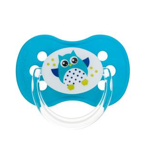 Canpol Babies Owl baby 22/570 sümmeetriline silikoonist lutt 18 kuud