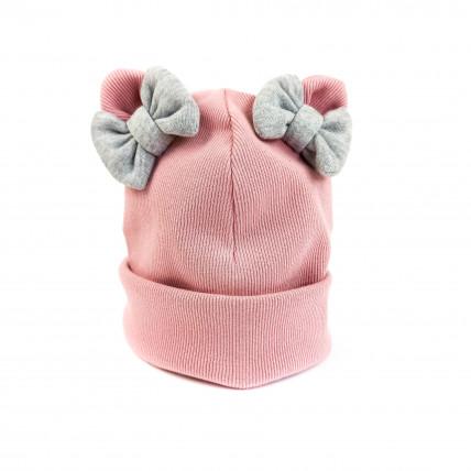 Kahekordne puuvillane lipsukestega müts