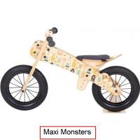 Dip Dap Maxi MONSTERS Puidust jooksuratas 3 kuni 6 aastat