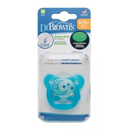 Dr.Browns PV21008 pimedas helendav PreVent BUTTERFLY silikoonlutt, 6 -12 kuud., sinine