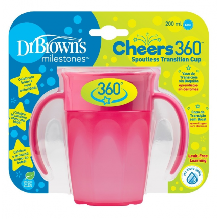 Dr.Browns TC71003 joogikruus, 250ml, roosa