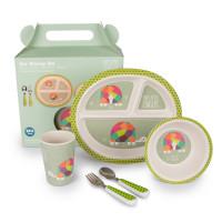 For Little Fingers FLF002 Bambusest laste toidunõude komplekt