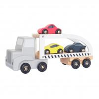 JaBaDaBaDo W7152 Puidust autodega treiler lastele