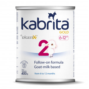 KABRITA Gold 2 järgmine kunstlik, kitsepiimal põhinev, kergelt seeduv piimasegu imikutele vanuses 6 kuni 12 kuud.