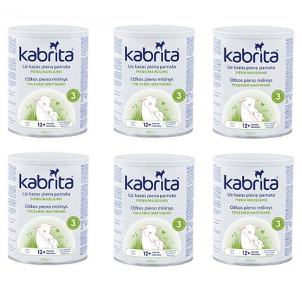 Kabrita 3 kitsepiimal põhinev, kergesti seeduv kuiv piimajook lastele alates 12.elukuust 6x800g
