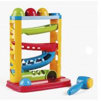Miniland MLZ97282 Arendav mänguasi värviline pallikestega torn