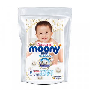 Mähkmed Moony Natural M 6-11 kg tootenäidis 3tk
