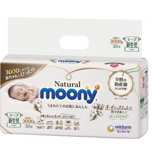 Mähkmed Moony Natural smaller NB 0-3kg 30tk