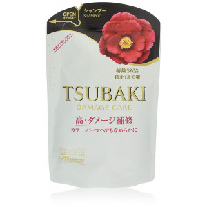 Taastav šampoon Damage Care Shampoo TSUBAKI, Shiseido, täitepudel 345ml