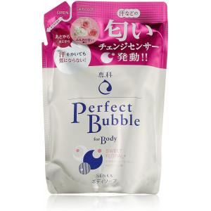 Shiseido Perfect Bubble pikaajalise deodoreeriva toimega hüaluroonhappega dušigeel, täitepakend 350ml
