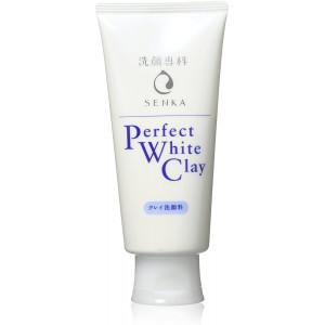 Shiseido Senka Perfect White Clay näopuhastusvaht valge saviga 120g