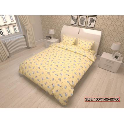 Kolmeosaline laste voodikomplekt, BEARS 100x140/40x60cm