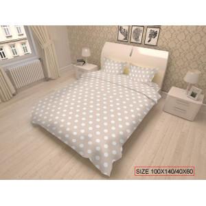 Kaheosaline laste voodipesukomplekt, DOTS 100x140/40x60cm