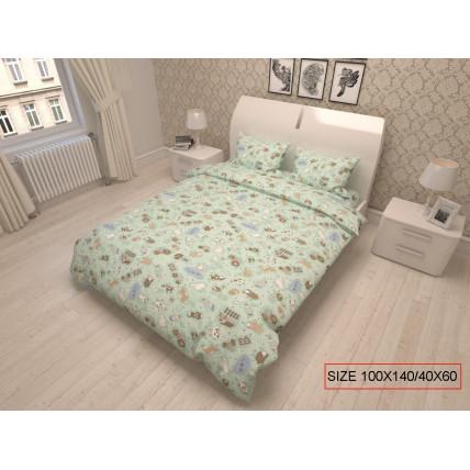 Kaheosaline laste voodipesukomplekt, HAPPY FARM 100x140/40x60cm