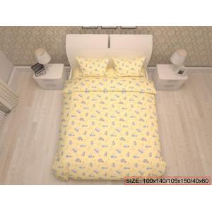 Kolmeosaline laste voodikomplekt, BEARS 100x140/105x150/40x60cm