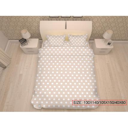 Kolmeosaline laste voodikomplekt, DOTS 100x140/105x150/40x60cm