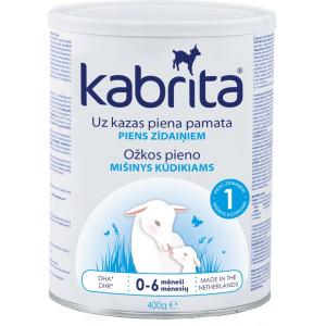 Kabrita 1 kunstlik kitsepiima baasil valmistatud, kergesti seeduv kuiv piimasegu imikutele vanuses 0 kuni 6 kuud 400g