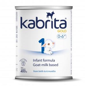 Kabrita Gold 1 kunstlik kitsepiima baasil valmistatud, kergesti seeduv kuiv piimasegu imikutele vanuses 0 kuni 6 kuud 400g