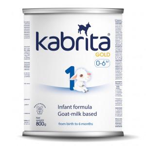 Kabrita Gold 1 kunstlik kitsepiima baasil valmistatud, kergesti seeduv kuiv piimasegu imikutele vanuses 0 kuni 6 kuud 800g