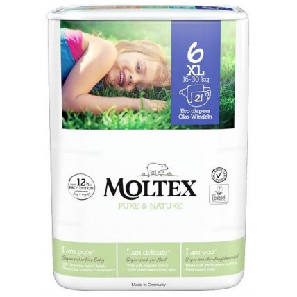 Mähkmed Moltex Pure & Nature 6 XL 16-30kg 21tk