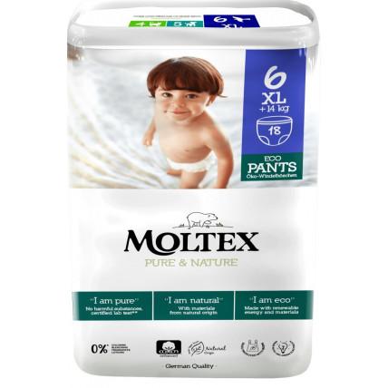 Püksmähkmed Moltex Pure & Nature 6 XL 14+kg 18tk