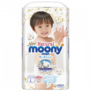 Püksmähkmed Moony Natural PL 9-14 kg